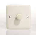 Varilight Pastel 1 x 400W 2-Way Push-on Push-off Dimmer Light Switch White Chocolate